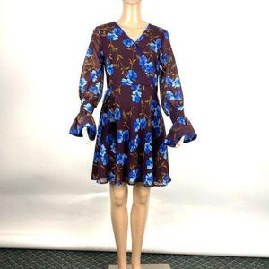 Alexia Admor Floral Self-Tie Mini Dress- NWOT